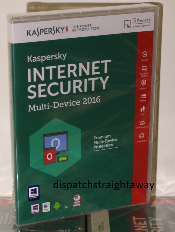 Kaspersky Internet Security 2016 5 Users Multi Device Inc