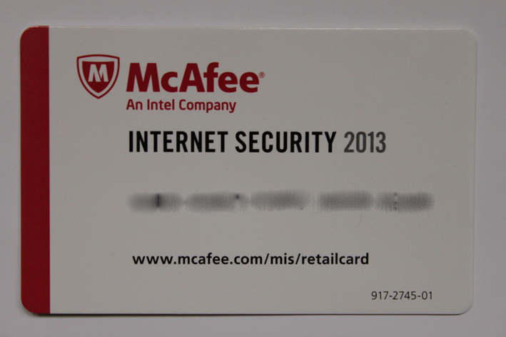 McAfee Internet Security 1 User ECard